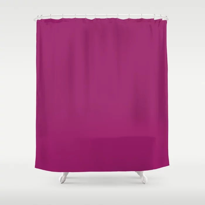 Orchid Flower Deep Pink Purple Solid Color 2022 Colour of the Year Shower Curtain. 2022 color trend - color scheme