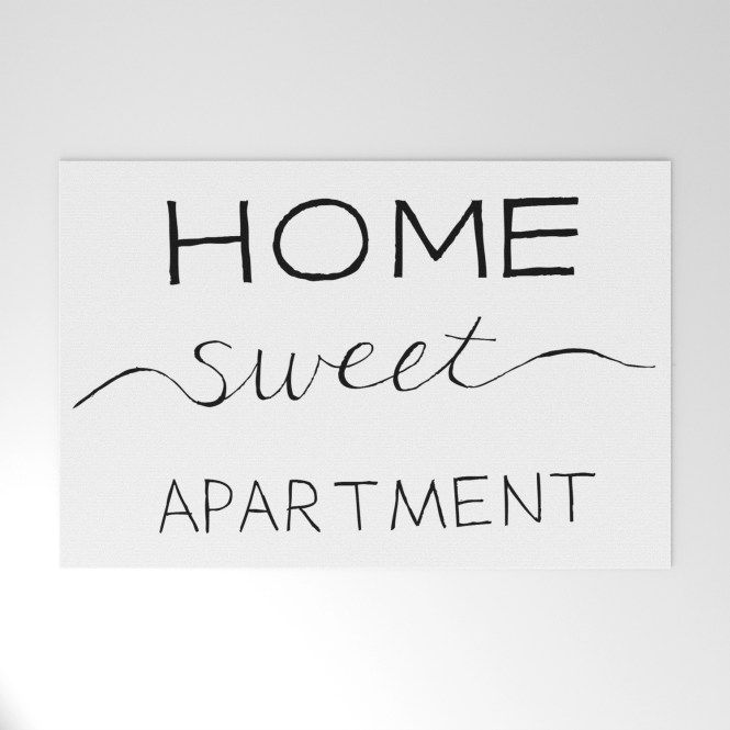 Home Sweet Apartment Welcome Mat By