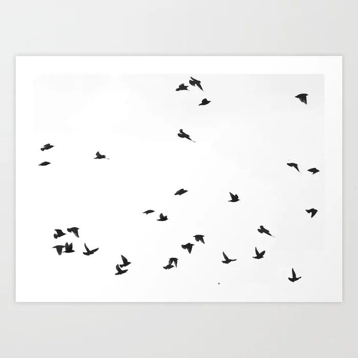 Sunday's Society6 | Birds flying high art print