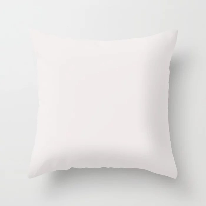 Behr Sweet Rose (Light Pastel Pink) PR-W05 Solid Color Throw Pillow