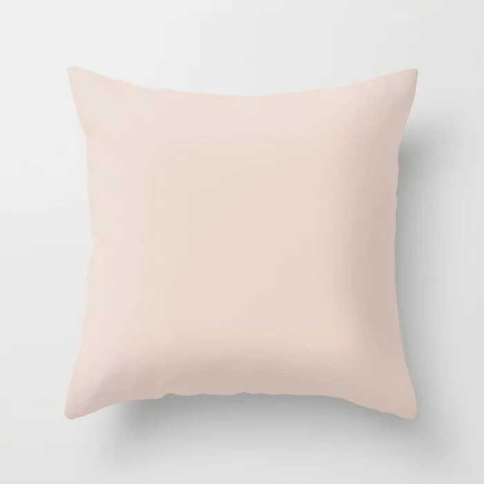 Pale Pastel Pink Solid Color Pairs To Behr's 2021 Trending Color Seaside Villa S190-1 Throw Pillow