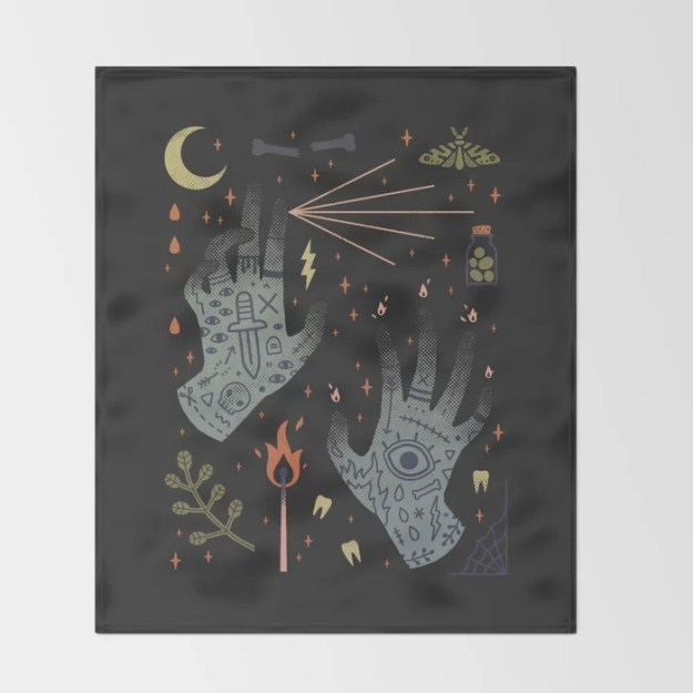 A Curse Upon You! Throw Blanket by LordofMasks