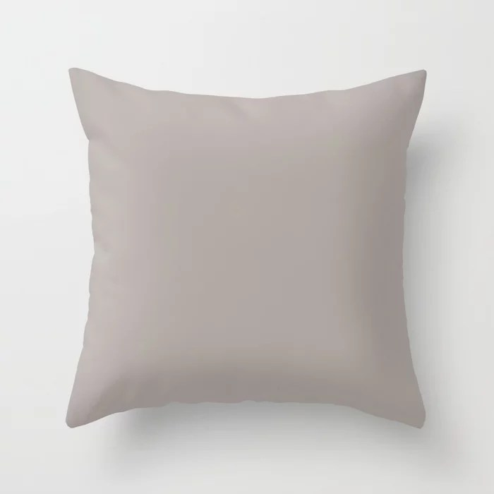 Neutral Gray Brown Solid Color Pairs Rustoleum 2021 Color Of The Year Accent Shade Satin Driftwood Throw Pillow