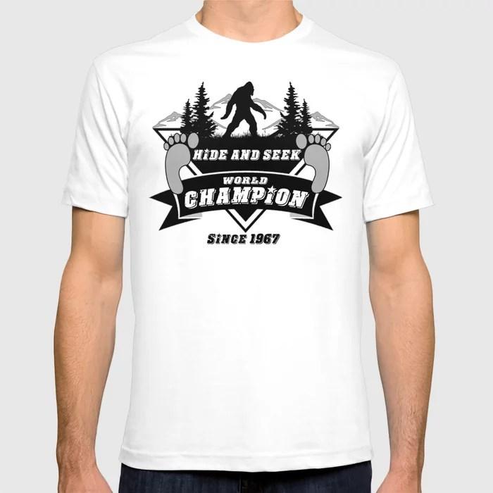 Hide Seek World Champion Bigfoot Sasquatch Yeti T Shirt