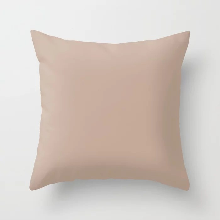 Lace Pastel Pink Solid Color Pairs Farrow and Ball 2021 Color of the Year Dead Salmon No.28 Throw Pillow