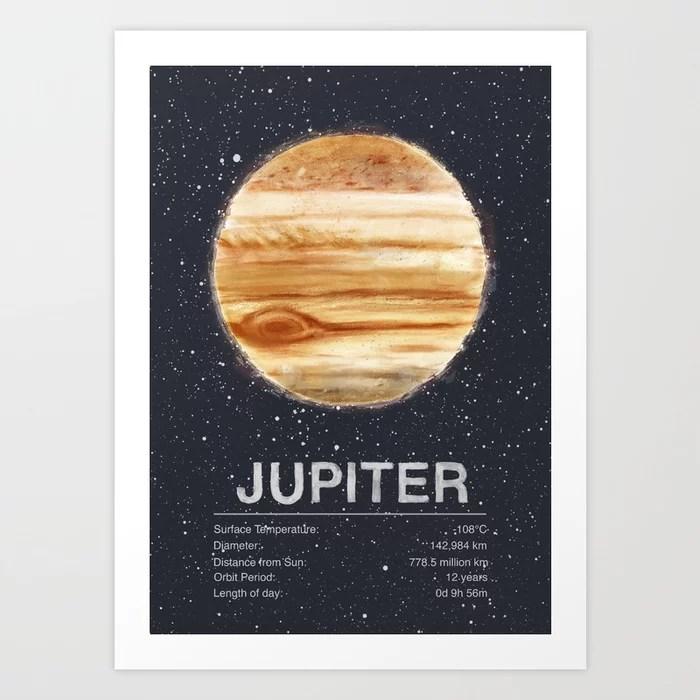 Sunday's Society6 | Planet Jupiter art print