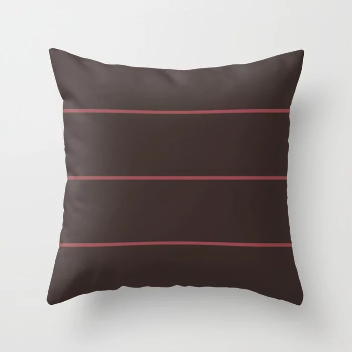 Red and Light Beige Abstract Stripe Pattern Pairs HGTV 2021 Color of the Year Passionate Throw Pillow