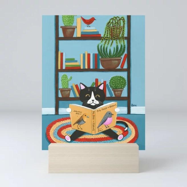 The Little Reader Mini Art Print