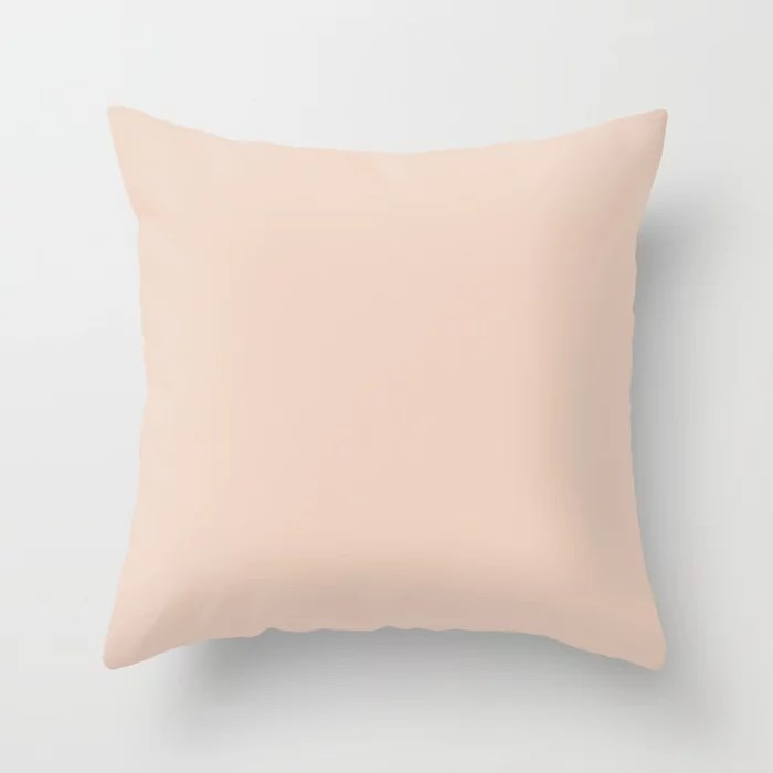 Cotton Candy Pastel Pink Solid Color Accent Shade / Hue Matches Sherwin Williams Spun Sugar SW 6337 Throw Pillow