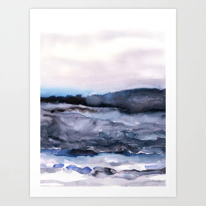 Sunday's Society6 | Watercolor sea landscape art print