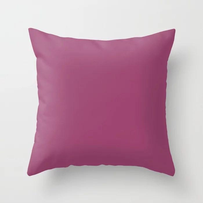 Solid Color - Pantone Magenta Haze Pink Purple 18-2525 Throw Pillow