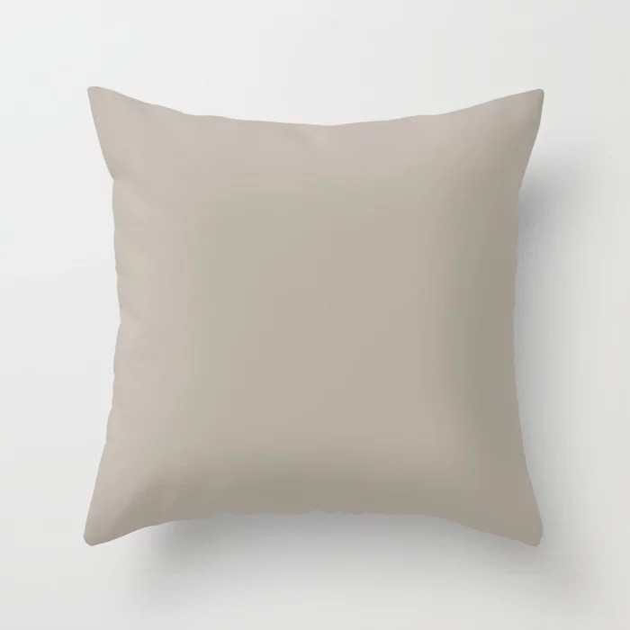 Light Taupe Gray Trending Solid Color Throw Pillows inspired by and pairs to (matches / coordinates with) Graham and Brown 2021 Color of the Year Accent Hue Fondue