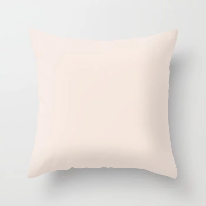 Dunn & Edwards 2019 Trending Colors Antique Scroll (Cream / Off White) DE6092 Solid Color Throw Pillow