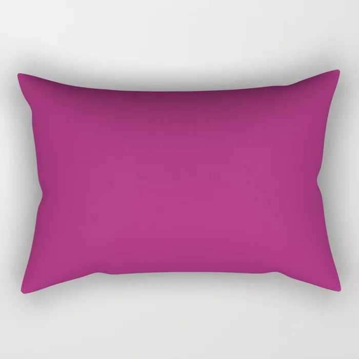 Orchid Flower Deep Pink Purple Solid Color 2022 Colour of the Year Rectangular Pillow. 2022 color trend - color scheme