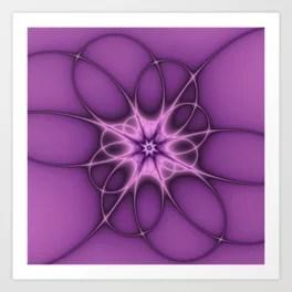 Lilac Ornament Fractal Art Art Print