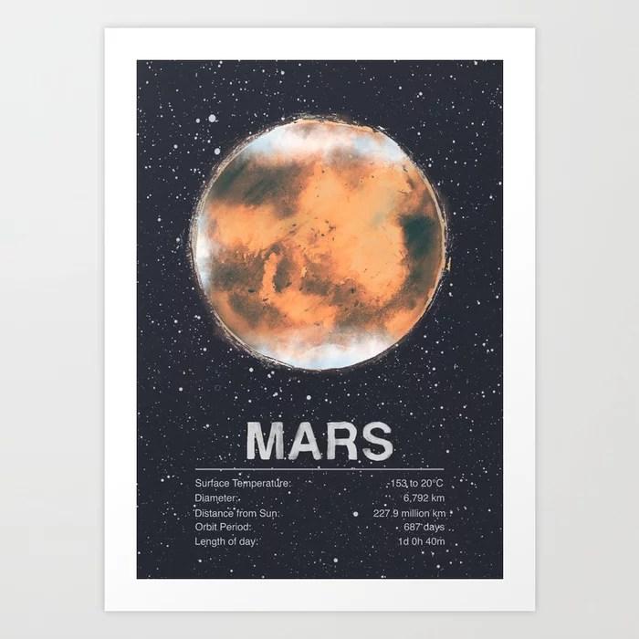Sunday's Society6 | Planet Mars art print
