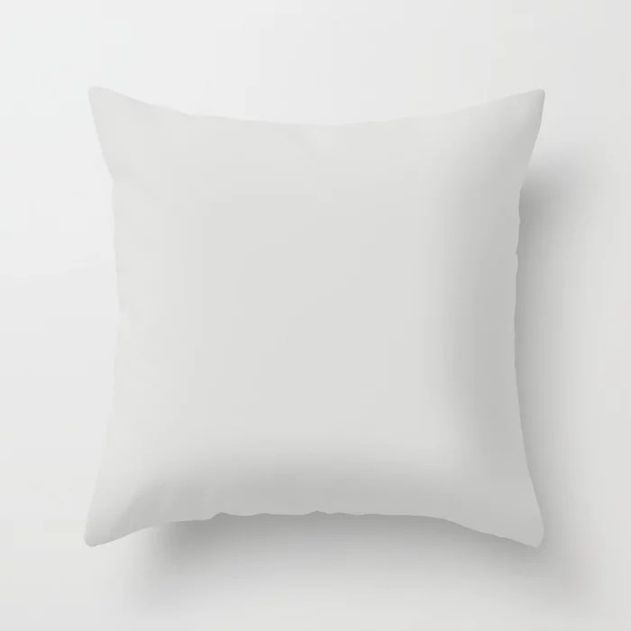 Light Gray Trending Solid Color Throw Pillows inspired by and pairs to (matches / coordinates with) Dutch Boy 2021 Color of the Year Accent Hue Shade Vapor 438-1DB