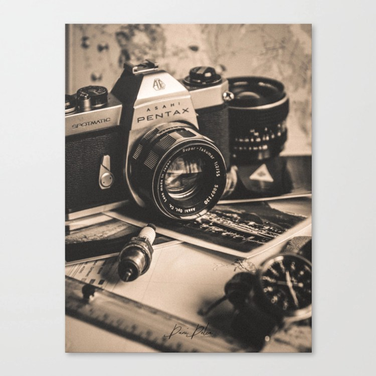 Vintage Asahi Pentax camera Canvas Print by Dani Delca   Society6