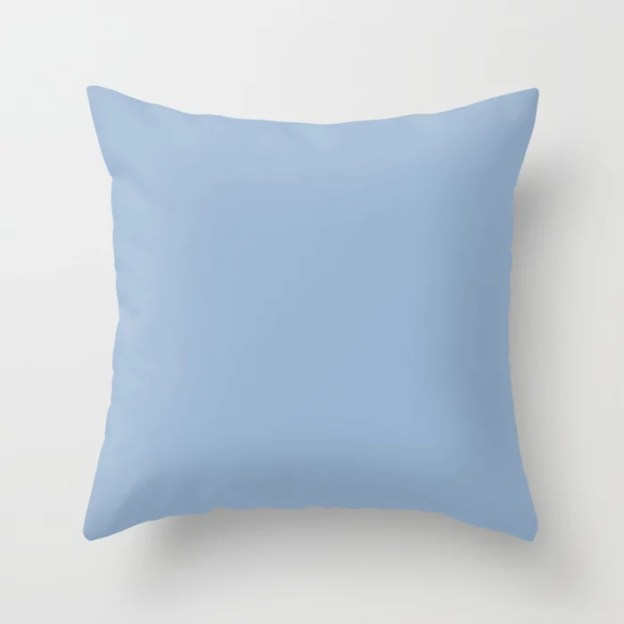 Sherwin Williams Trending Colors of 2019 From Shapeshifter Color Palette: Celestial Pastel Blue SW 6808 Throw Pillows and Outdoor Patio Pillows