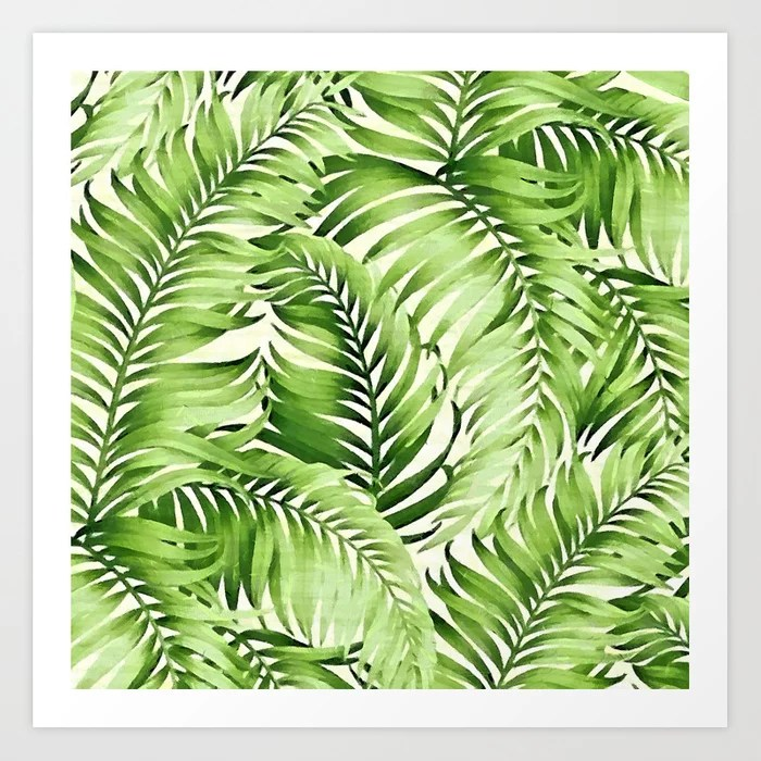 Sunday's Society6 | Greenery palm leaves art print