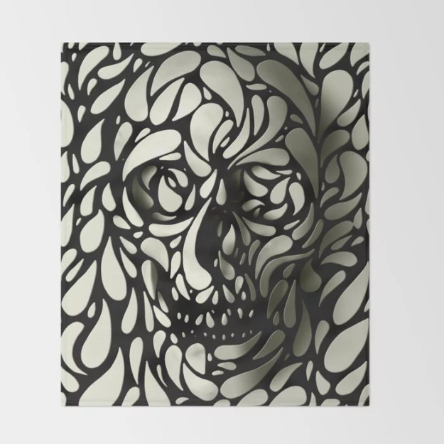 Skull Throw Blanket by Ali GULEC