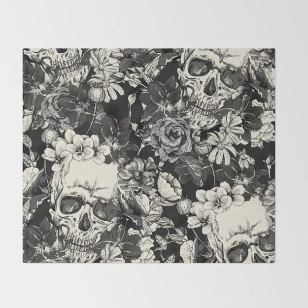 SKULLS Throw Blanket by Magic Dreams