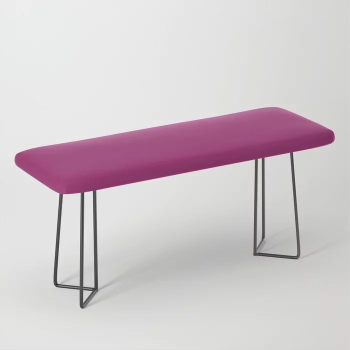 Orchid Flower Deep Pink Purple Solid Color 2022 Colour of the Year Bench. 2022 color trend - color scheme