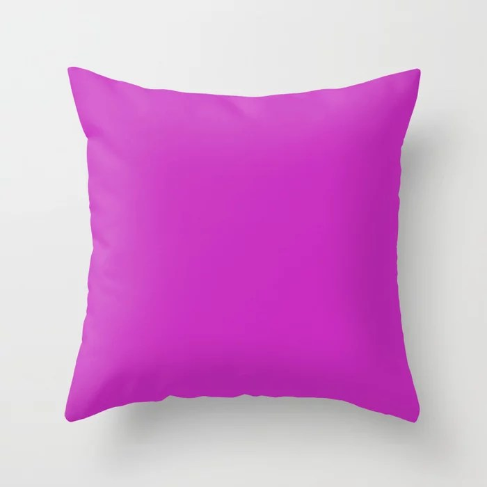 Dark Funky Retro Fuchsia Purple Pink Solid Color Accent Throw Pillow