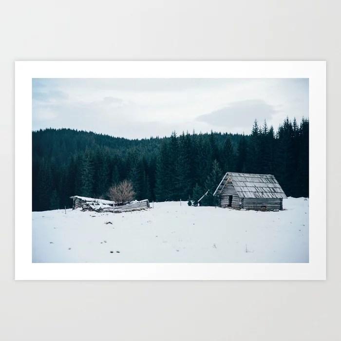 Sunday's Society6 | Winter wonderland art print