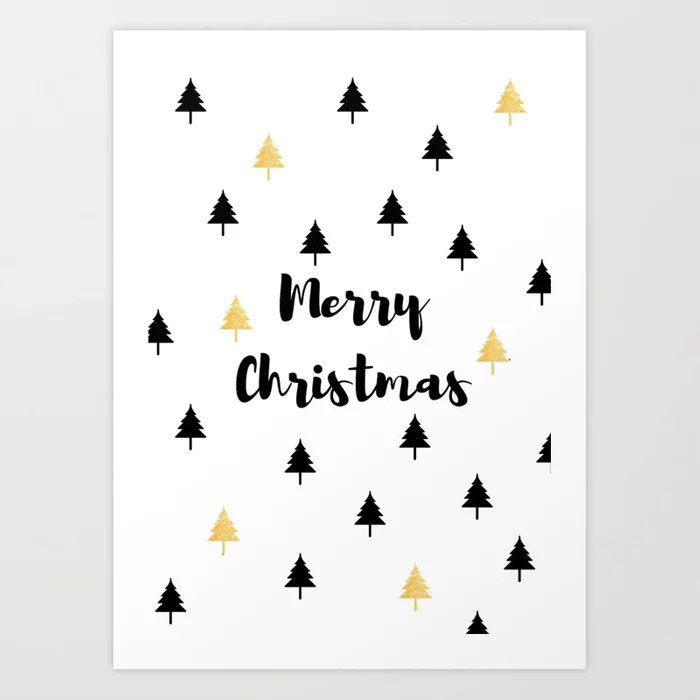Sunday's Society6 | Merry Christmas art print