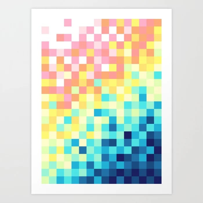 Sunday's Society6 | Colorful pixel art print