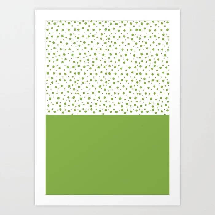 Sunday's Society6 | Greenery dots color block art print
