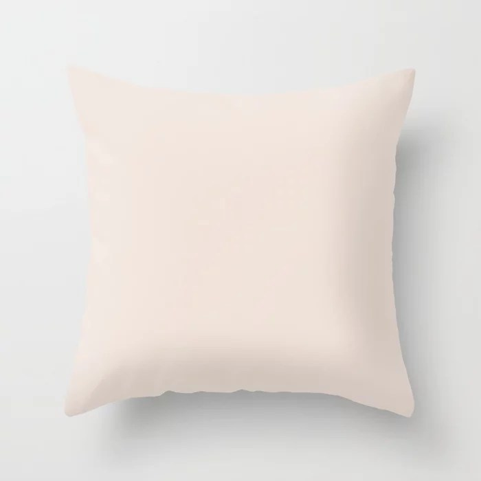 Drops of Pink Solid Color Accent Shade / Hue Matches Sherwin Williams Intimate White SW 6322 Throw Pillow