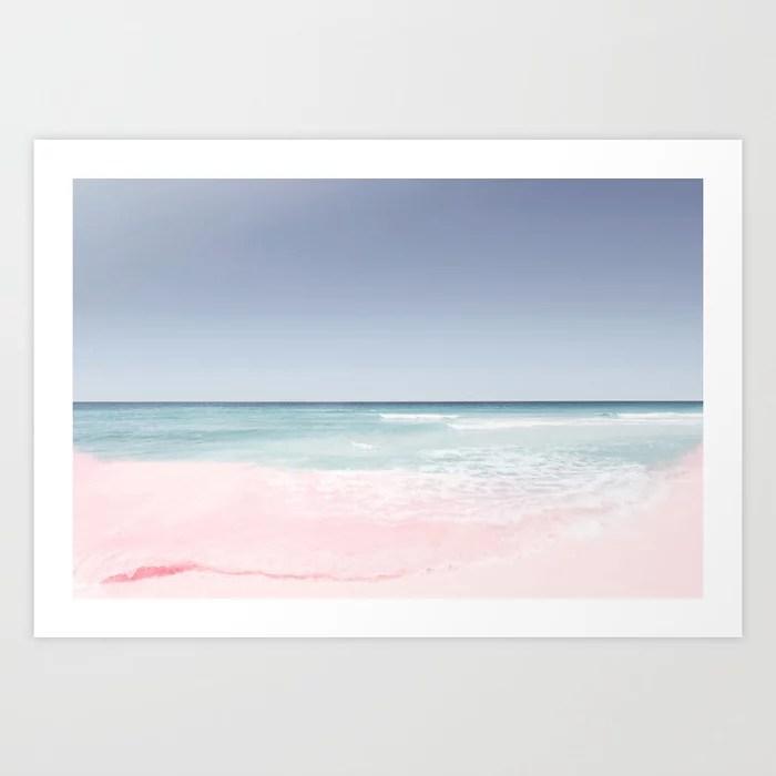 Sunday's Society6 | Ocean waves pastel art print