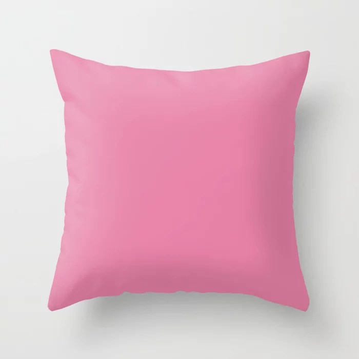 Solid Color - Pantone Aurora Pink 15-2217 Throw Pillow