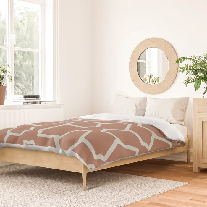 Mint Green and Terracotta Tessellation Pattern 12 Behr 2022 Color of the Year Breezeway MQ3-21 Duvet Cover. Color forecast 2022