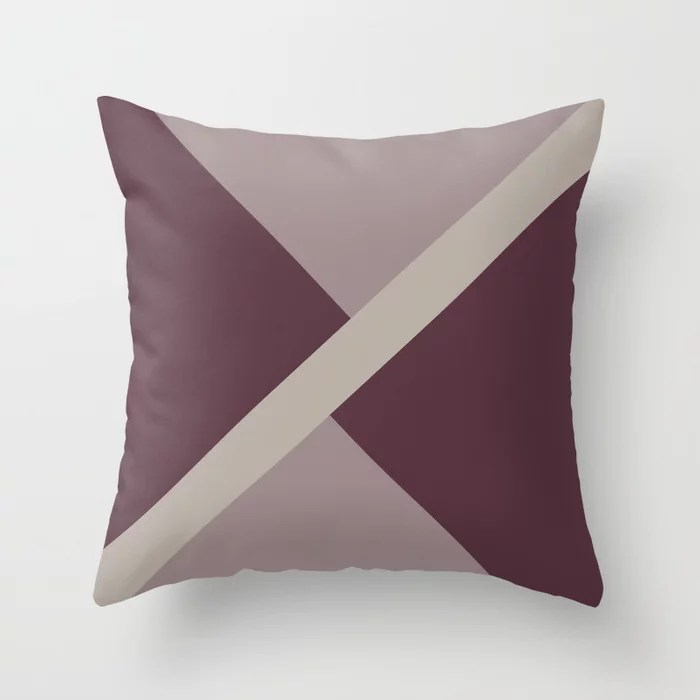 Purple Pink-Purple Taupe Gray Stripe Design Throw Pillows inspired by and pairs to (matches / coordinates with) Graham and Brown 2021 Color of the Year Epoch and Accent Shades
