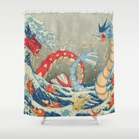 The Great Red Wave II Shower Curtain
