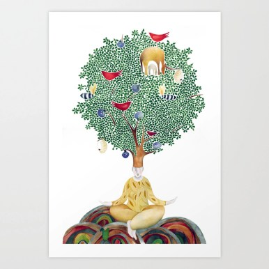 Under the Fig Tree Art Print by icons | Society6