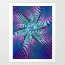 Colorful Grace, Abstract Fractal Art Art Print