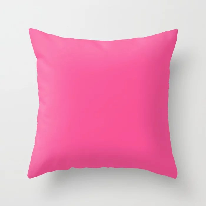From The Crayon Box – Violet Red - Bright Purple Pink Solid Color Throw Pillow
