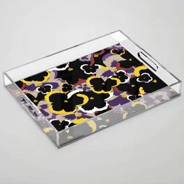 Pansy Love Acrylic Tray