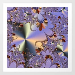 Metallic Shine with Fractals Art Print