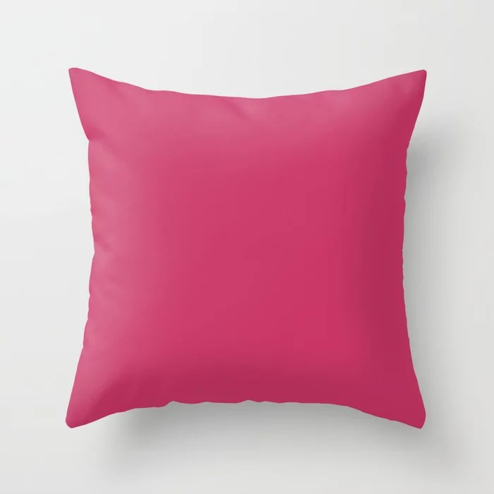 From The Crayon Box – Jazzberry Jam - Bright Pink Purple Solid Color Throw Pillow