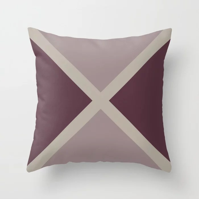 Purple Pink-Purple Taupe Gray Stripes X Pattern 2021 Color of the Year Epoch and Accent Shades