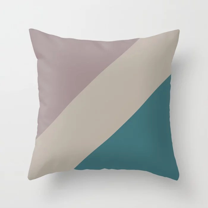 Pink-Purple Aqua Taupe Gray Stripe Pattern Throw Pillows inspired by and pairs to (matches / coordinates with) Graham and Brown 2021 Color of the Year Accent Shades