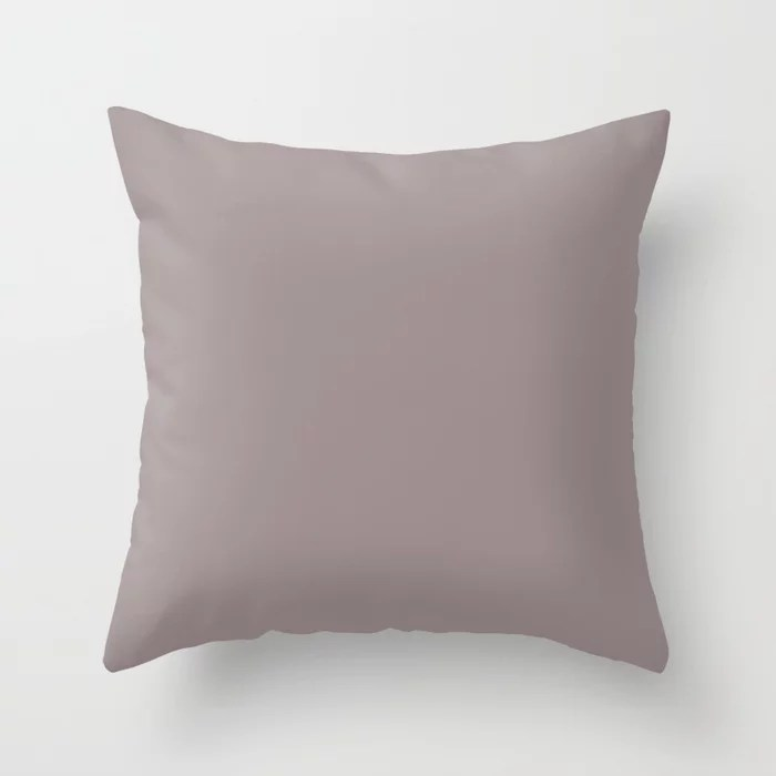 Perfect Mauve Pastel Purple Pink Solid Color Pairs To Sherwin Williams Coquina SW 9158 Throw Pillow