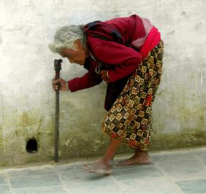 crippled woman