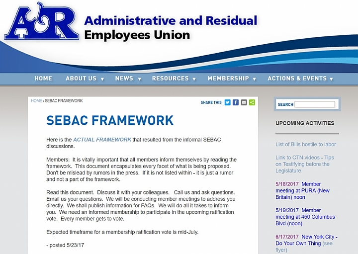Screengrab of A&R website