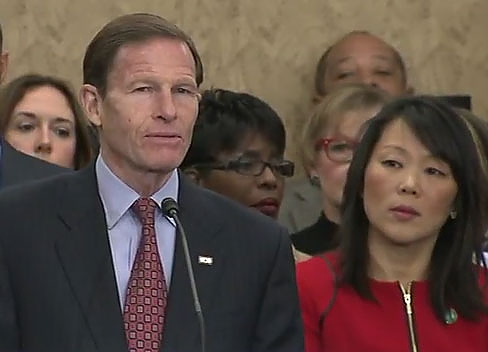 Screenshot courtesy of Blumenthal's YouTube feed